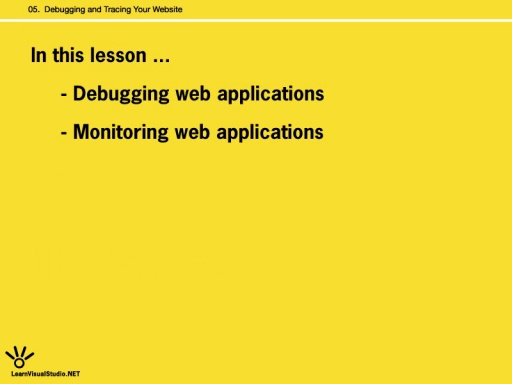 [Lesson 5:] Debugging and Tracing Your Website