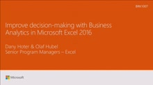 Improve decision-making with Business Analytics in Microsoft Excel 2016