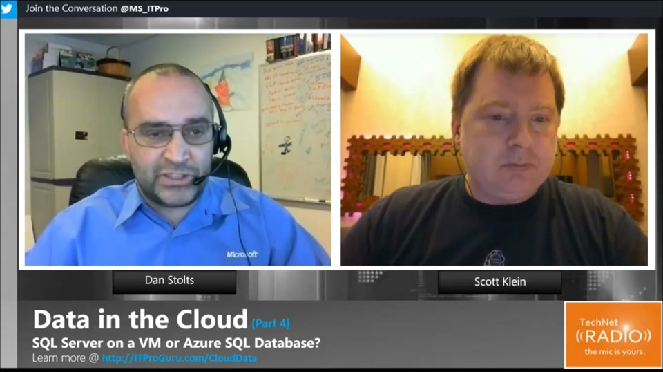TechNet Radio: Data in the Cloud (Part 4) - SQL Server on a VM or Azure SQL Database?