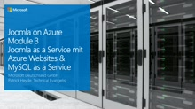 03 | Joomla as a Service – Bereitstellung in Azure Websites und Datenbank als Service - Video 1
