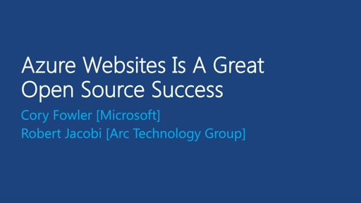 Azure Websites Is A Great Open Source Success