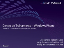 Windows Phone 7 - Alterando o escopo do teclado