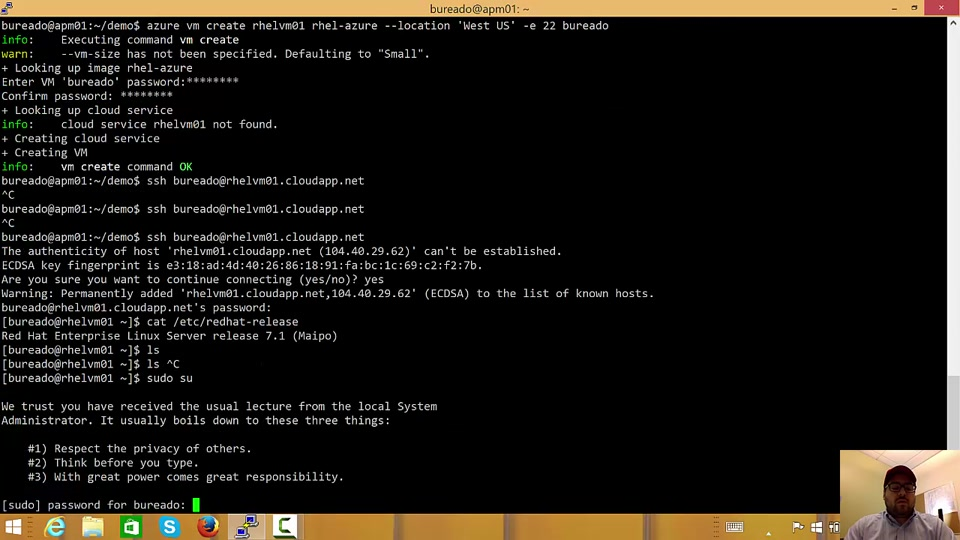 Uploading a Red Hat Enterprise Linux (RHEL) 7.1 image to Microsoft Azure