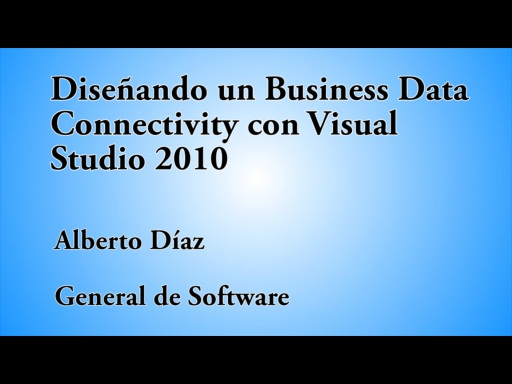 12 HORAS VISUAL STUDIO DISEÑANDO UN BUSINESS DATA CONNECTIVITY