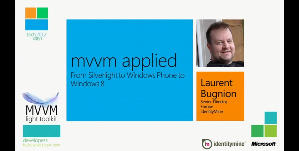 MVVM Applied: From Silverlight to Windows Phone to Windows 8