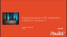 Building Awesome HTML apps in Blend for Windows 8