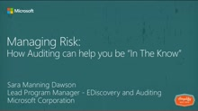 "Managing Risk: How Auditing can help you be ""in the know"""