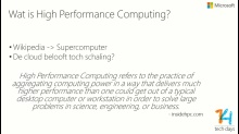 High Performance Computing in Windows Azure