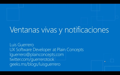 Windows 8 para desarrolladores de HTML5+CSS3+WinJS. Tiles y notificaciones