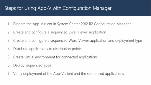 Using App-V with Configuration Manager
