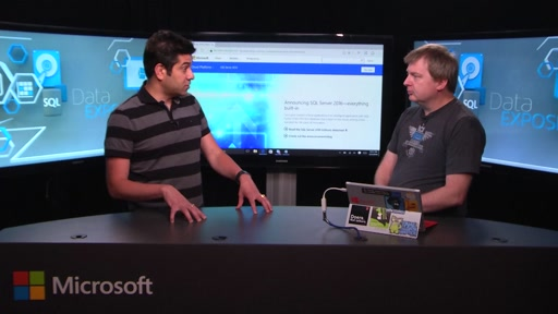 SQL Server 2016 General Availability Announcement with Rohan Kumar