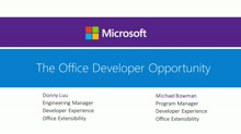 The Office Developer Opportunity