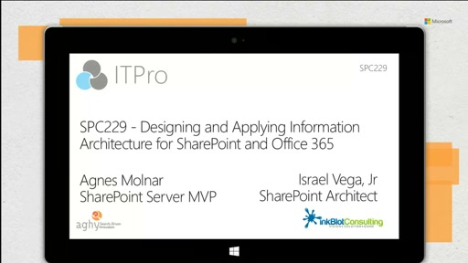 Designing and applying information architecture for SharePoint and Office 365