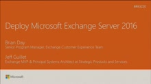 Deploy Microsoft Exchange Server 2016