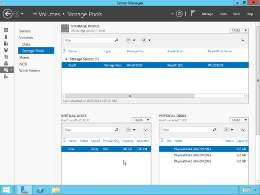 Windows Server 2012 R2 Storage Pools