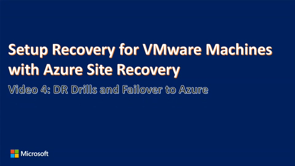 Enhanced VMware to Azure Failover