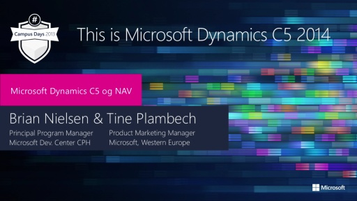 This is Microsoft Dynamics C5 2014