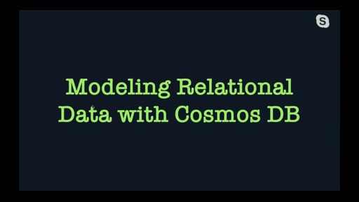 Modeling Relational Data with Cosmos DB