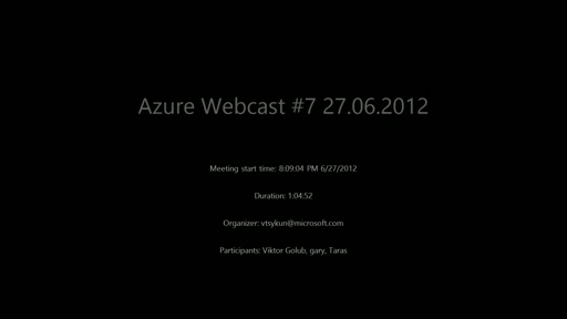 Webcast 2012-06-27. Windows Azure: App Fabric