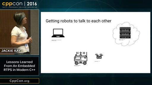 """CppCon 2016: Jackie Kay """"Lessons Learned From An Embedded RTPS in Modern C++"""""""