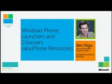 Windows Phone Launchers and Choosers