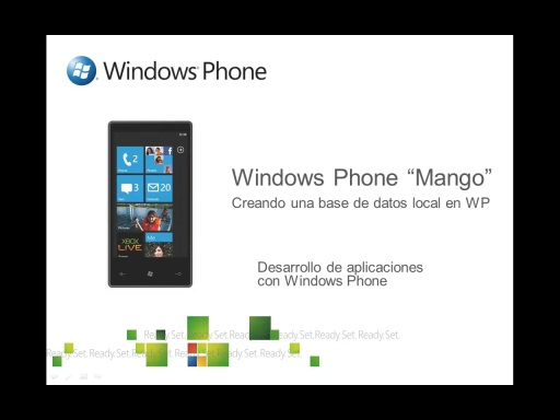 Creando una base de datos local en Windows Phone