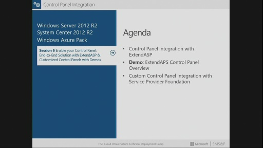 Session 6- Control Panel Options for Hosting Providers: Windows Azure Pack, ExtendASP and Custom Control Panels