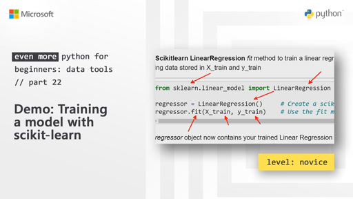 Demo: Training a model with scikit-learn | Even More Python for Beginners - Data Tools [22 of 31]