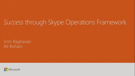 Get to know the Skype Operations Framework