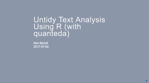 Text Analysis and Text Mining Using R