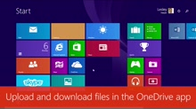 Upload and download files from the OneDrive app