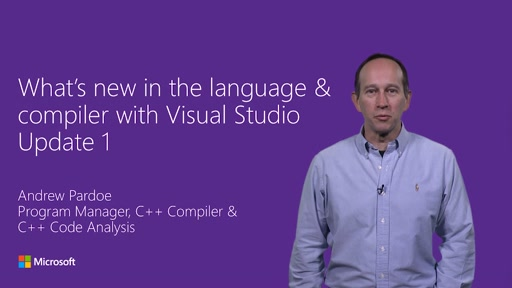 What's new in the Visual C++ Language and Compiler