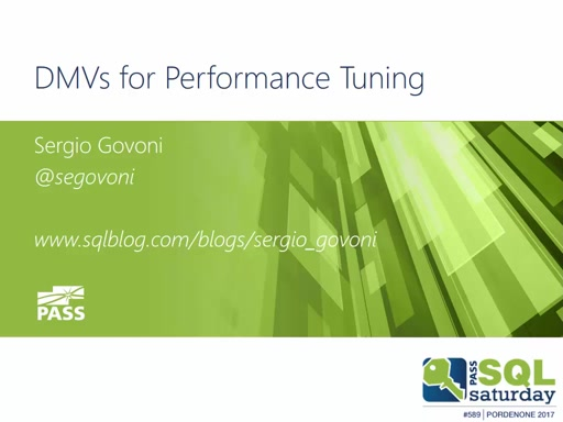 DMVs for Performance Tuning