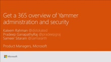 Get a 365 overview of Yammer usage, administration and security