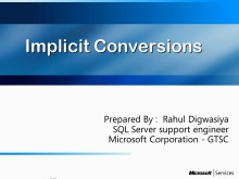 Implicit conversions and their implications on the SQL query execution