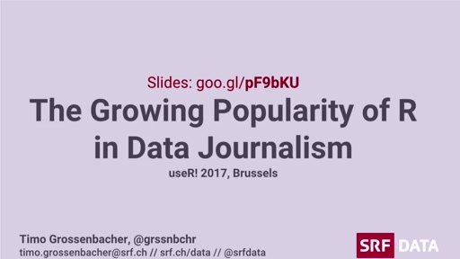 The growing popularity of R in data journalism