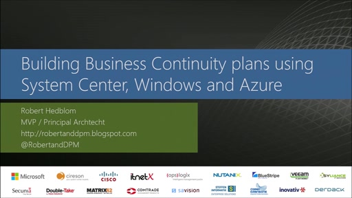 Building solid business continuity plans using System Center, Windows Server and Azure