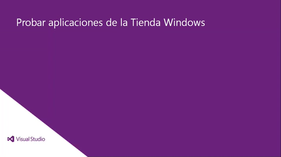 Visual Studio 2013 Ultimate: Probar aplicaciones de la Tienda Windows