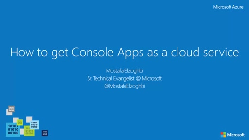 How to migrate Console Apps as a cloud service