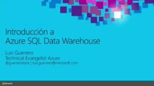 Big Data Stores: SQL Data Warehouse