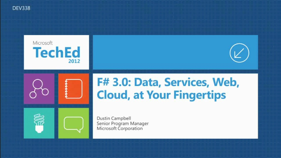 F# 3.0: Data, Services, Web, Cloud... at Your Fingertips