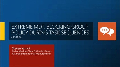 Block Group Policy Processing During a Task Sequence in Microsoft Deployment Toolkit