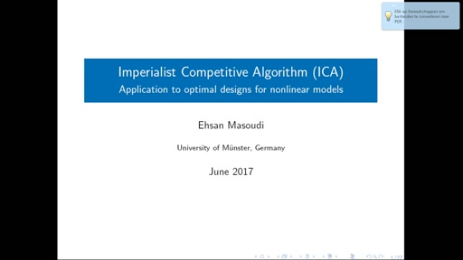 ICAOD: An R Package to Find Optimal Designs for Nonlinear Models with Imperialist Competitive Algorithm