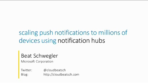 Scaling your mobile and Windows applications with Azure Notification Hubs