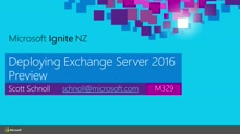 Deploying Exchange Server 2016