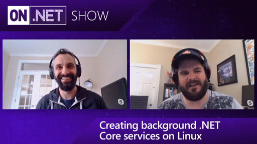 Creating background .NET Core services on Linux
