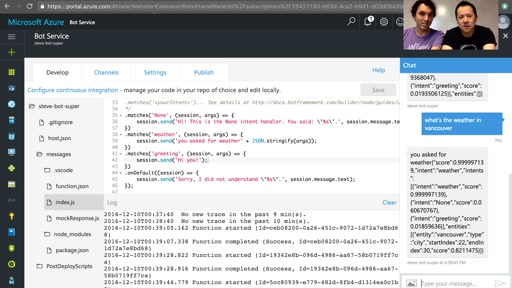 Build a Chat Bot with Azure Bot Service