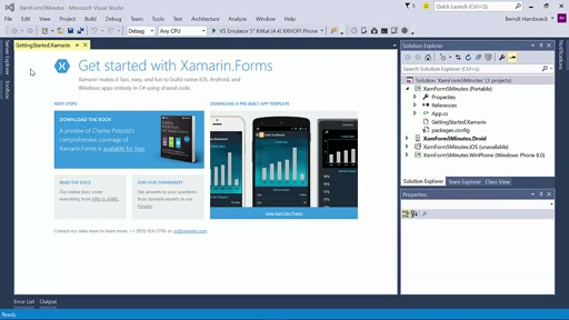 Visual Studio 2015 in 5 Minuten - Xamarin