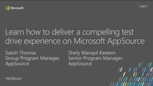 Learn how to deliver a compelling test-drive experience on Microsoft AppSource