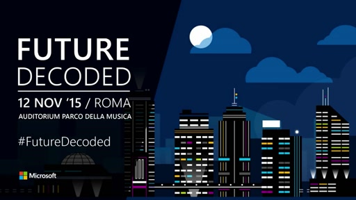 #FutureDecoded Roma 2015 - Track Studenti: Microsoft Azure & Visual Studio, from theory to code